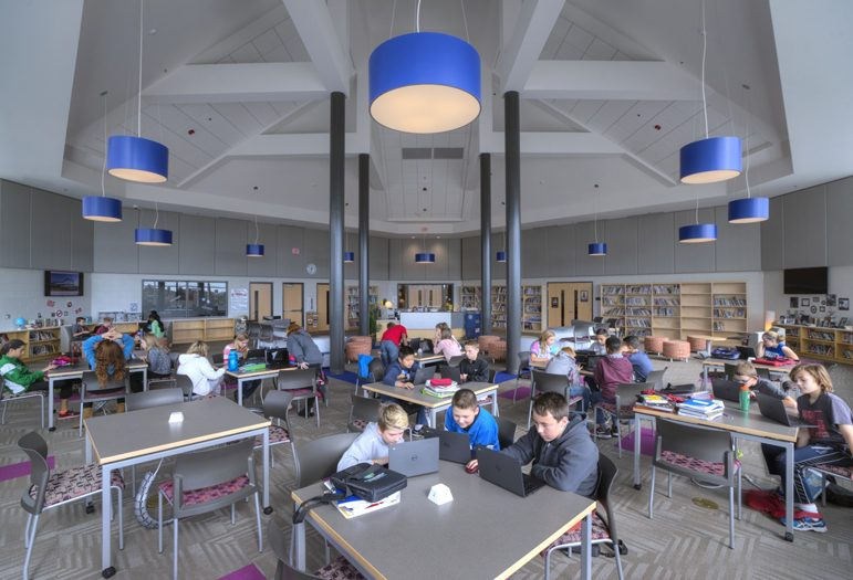 Liberty Middle School Dining Space