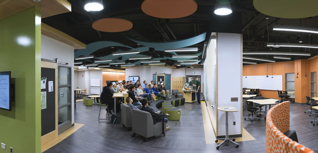 student life facility design college architecture the hive at